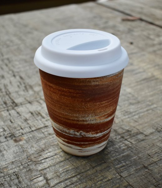 Red Clay Swirl To Go Cup